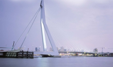 Bascule bridges - Erasmusbridge, Rotterdam, Netherlands