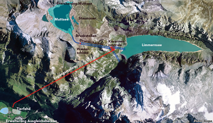 Penstock for KLL 2015 - Linth Limmern, Switzerland